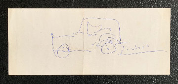 Automobile 1962 4x8 Works on Paper (not prints) - Pablo Picasso