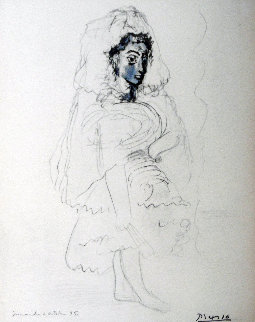 Jacqueline in the Spanish Costume 1967 Limited Edition Print - Pablo Picasso
