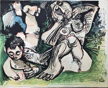 Picasso: Au Baiser D'avignon, Portfolio of 12 Lithographs 1972 Limited Edition Print - Pablo Picasso