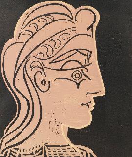 Tete De Femme De Profil 1959 Linocut Limited Edition Print by Pablo Picasso