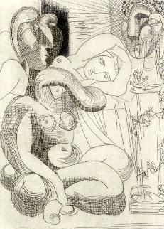 Dormeuse Et Sculptures 1961 Limited Edition Print by Pablo Picasso