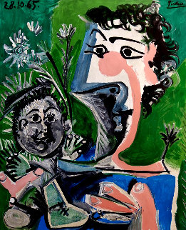 Françoise and Claude Limited Edition Print by Pablo Picasso