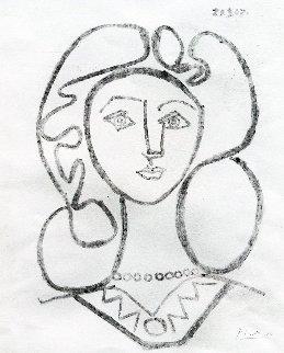 La Femme Au Collier 1947 Limited Edition Print - Pablo Picasso
