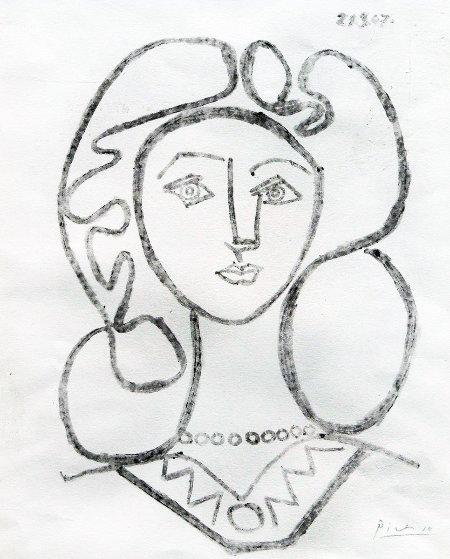 la femme au collier de picasso