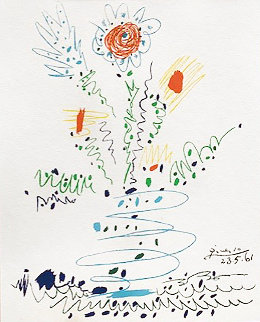 Flowers For UCLA AP 1961 Limited Edition Print - Pablo Picasso