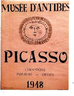 Musee D'antibes  Poster 1948 HS Limited Edition Print by Pablo Picasso