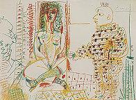Le Pentre Et Son Model 1954  Limited Edition Print by Pablo Picasso - 2