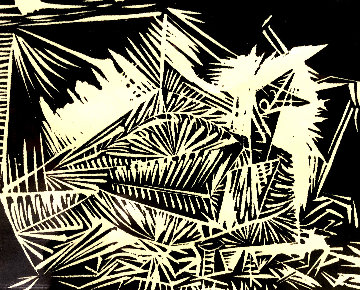 Untitled Linocut  Limited Edition Print - Pablo Picasso