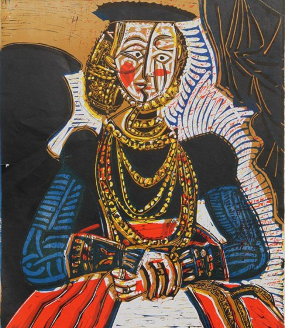 Buste De Femme D'apres Cranach Le Jeune Poster 1966 Limited Edition Print by Pablo Picasso
