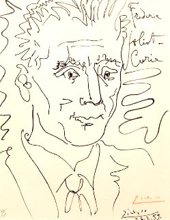 Frederic Joliot-Curie 1959 Limited Edition Print - Pablo Picasso