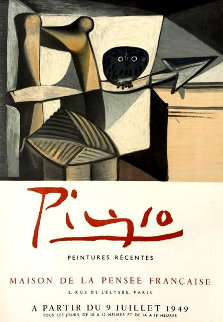 Picasso: Peintures Recentes Poster 1949 Limited Edition Print by Pablo Picasso