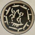 Deux Danseurs (Two Dancers) Clay Plaque 1956 10x10 Sculpture - Pablo Picasso