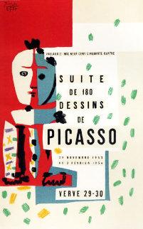 Suite De 180 Dessins De Picasso Poster 1964 Hand Signed Limited Edition Print - Pablo Picasso
