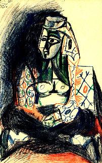 Femme Assise - Carnet De Californie 1983 Limited Edition Print - Pablo Picasso