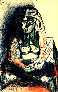 Femme Assise - Carnet De Californie 1981 Limited Edition Print by Pablo Picasso