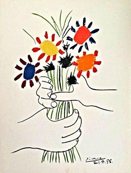 Le Bouquet De Fleurs 1958 Limited Edition Print by Pablo Picasso