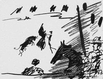 Los Toros – Jeu De La Cape 1961 Limited Edition Print by Pablo Picasso