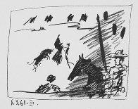 Los Toros – Jeu De La Cape 1961 Limited Edition Print by Pablo Picasso - 1