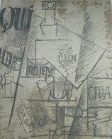 Papiers Colles 1910-1914 (Qui: Bouteille Table Et Verres) 1966 Limited Edition Print by Pablo Picasso - 3