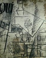 Papiers Colles 1910-1914 (Qui: Bouteille Table Et Verres) 1966 Limited Edition Print by Pablo Picasso - 0