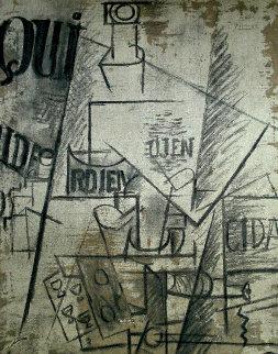 Papiers Colles 1910-1914 (Qui: Bouteille Table Et Verres) 1966 Limited Edition Print by Pablo Picasso