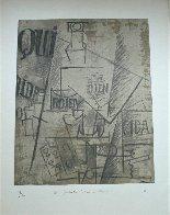 Papiers Colles 1910-1914 (Qui: Bouteille Table Et Verres) 1966 Limited Edition Print by Pablo Picasso - 1