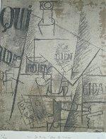 Papiers Colles 1910-1914 (Qui: Bouteille Table Et Verres) 1966 Limited Edition Print by Pablo Picasso - 2