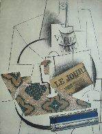 Papiers Colles 1910-1914 (Bouteille De Vieux Marc, Verre Et Le Journ 1966 Limited Edition Print by Pablo Picasso - 2