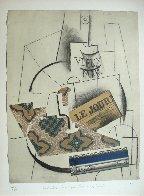 Papiers Colles 1910-1914 (Bouteille De Vieux Marc, Verre Et Le Journ 1966 Limited Edition Print by Pablo Picasso - 1
