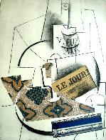 Papiers Colles 1910-1914 (Bouteille De Vieux Marc, Verre Et Le Journ 1966 Limited Edition Print by Pablo Picasso - 0
