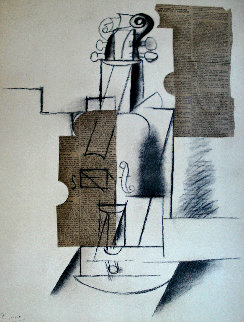 Papiers Colles 1910-1914 (Guitare) 1966 Limited Edition Print - Pablo Picasso