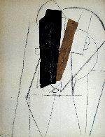 Papiers Colles 1910-1914 (Tete D'homme) 1966 Limited Edition Print by Pablo Picasso - 0