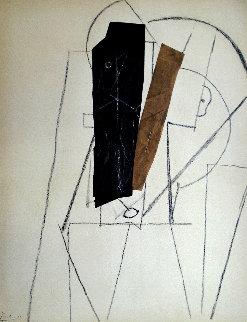 Papiers Colles 1910-1914 (Tete D'homme) 1966 Limited Edition Print - Pablo Picasso