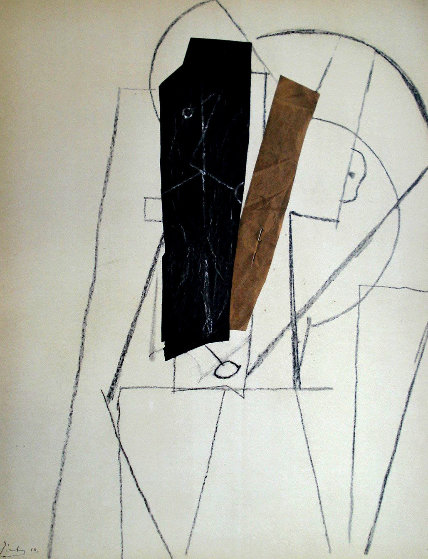 Papiers Colles 1910-1914 (Tete D'homme) 1966 Limited Edition Print by Pablo Picasso