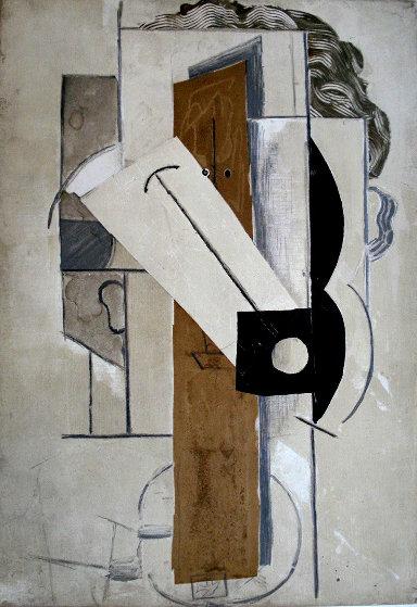Papiers Colles 1910-1914 (Tete De Jeune Fille a La Colombe) 1966 Limited Edition Print by Pablo Picasso