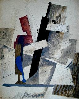 Papiers Colles 1910-1914 (Bouteille, Guitare Et Pipe) 1966 Limited Edition Print - Pablo Picasso