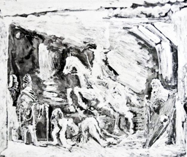 Rapt Avec Celestine, Ruffian, Fille Et Seigneur Avec Son Valet 1968 Limited Edition Print by Pablo Picasso