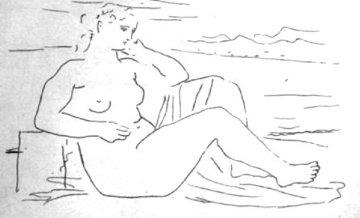 Femme Au Bord De La Mer 1924 Limited Edition Print - Pablo Picasso