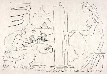 """Painter and His Model From """"Regards Sur Paris"""" 1962 Limited Edition Print by Pablo Picasso"""