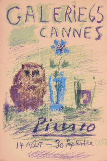 Galerie 65 Cannes Poster 1956 Limited Edition Print by Pablo Picasso