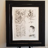 Bloch 620 Poems and Lithographs, Suite of 4 46x34 1954  Huge  Limited Edition Print by Pablo Picasso - 6