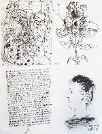 Bloch 620 Poems and Lithographs, Suite of 4 46x34 1954  Huge  Limited Edition Print by Pablo Picasso - 1