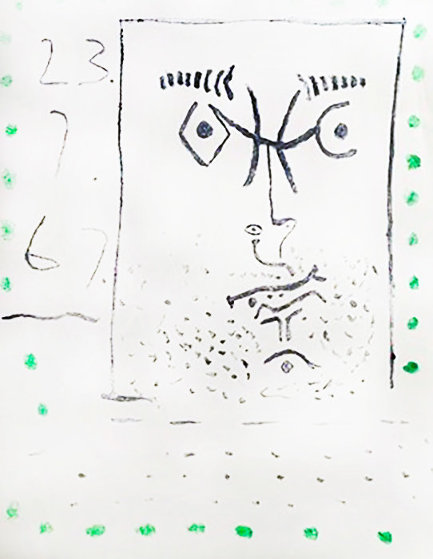 Face With Green Dots AP 1967 Limited Edition Print by Pablo Picasso