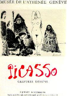 Musée De l\'athénée - Geneve HS Poster 1971 Limited Edition Print - Pablo Picasso