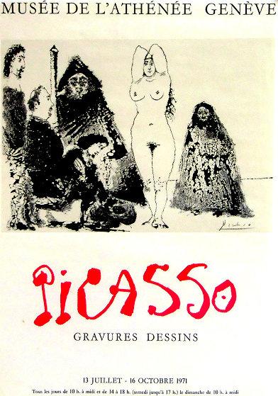 Musée De l'athénée - Geneve HS Poster 1971 Limited Edition Print by Pablo Picasso
