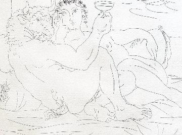 Le Repos Du Minotaure: Champagne Et Amante 1933 Limited Edition Print - Pablo Picasso