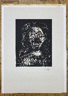 Jacqueline Aux Chevaux Flous, En Buste Linocut 1962 Limited Edition Print by Pablo Picasso - 2