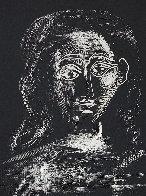 Jacqueline Aux Chevaux Flous, En Buste Linocut 1962 Limited Edition Print by Pablo Picasso - 0