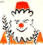 Clown Avec Rameau D'olivier 1961 Limited Edition Print - Pablo Picasso
