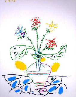 Pablo Picasso Flowers For UCLA 1959 Limited Edition Print - Pablo Picasso